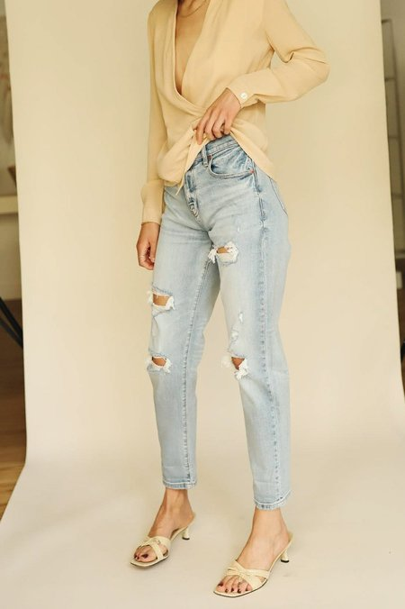 Loverboy High Rise Boyfriend Daze Denim - Out Side The Lines Wash