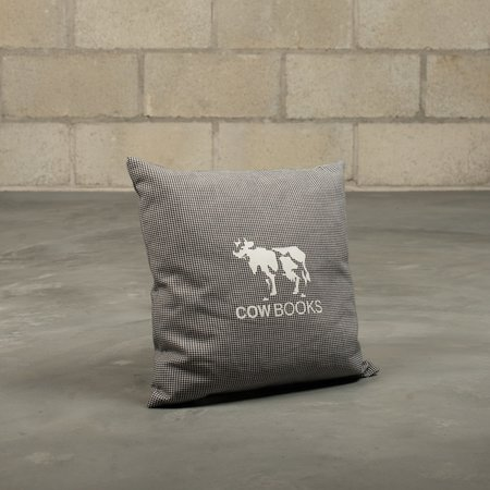 COW BOOKS Reading Cushion - Houndstooth
