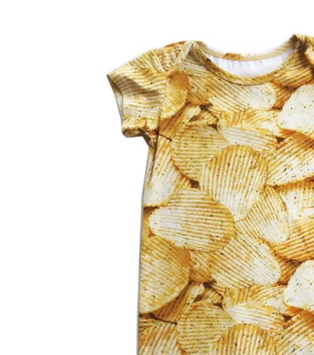 Kids Romey Loves Lulu Potato Chips Short Romper