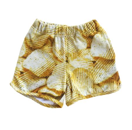 Kids Romey Loves Lulu Potato Chips Shorts