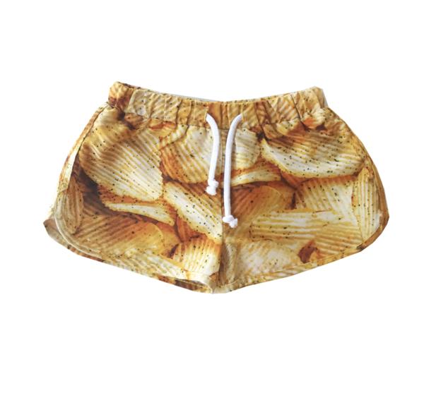 Kids Romey Loves Lulu Potato Chips Swim Trunks