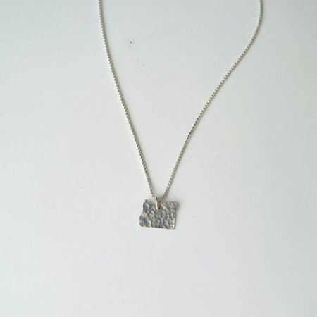 Oh So Antsy State Necklace - Sterling Silver