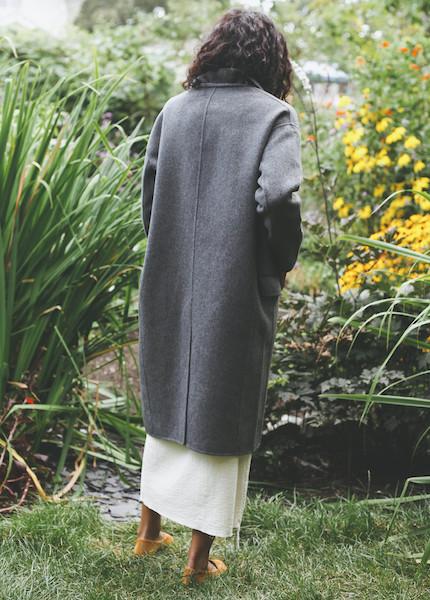 Achro - Handmade Long Coat in Gray