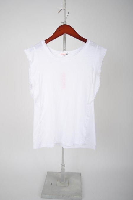 Sundry Flutter Sleeve Tee - White