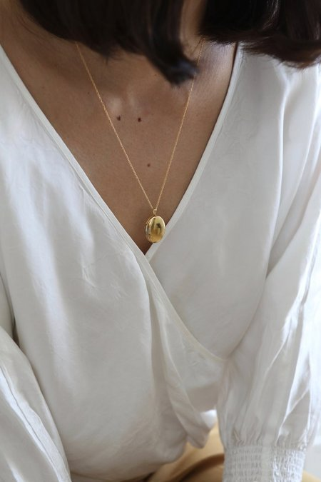 Lisbeth Jewelry Lisbeth Oval Locket Necklace