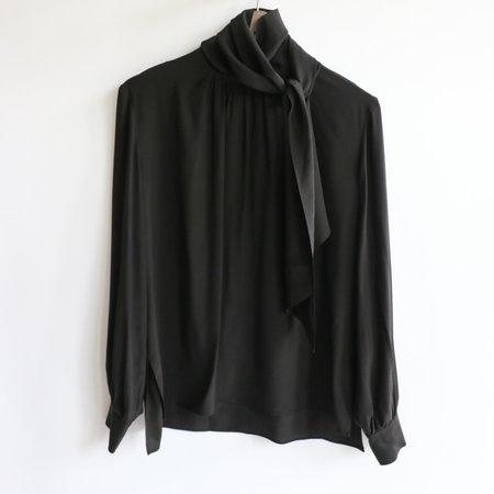 [Pre-loved] Fendi Silk Blouse - Black