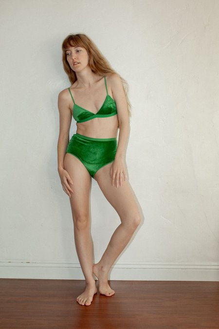 Baserange Highwaist Bell Underwear - Fawn Green