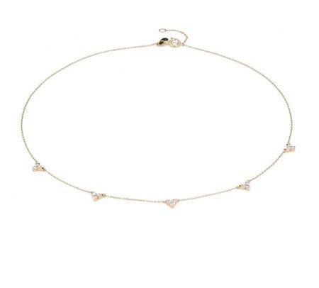 HeidiSays 5 Cluster Chain Choker - Gold