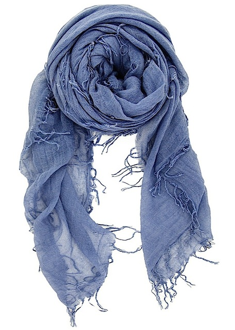 Chan Luu - Cloud Gray Cashmere & Silk Scarf