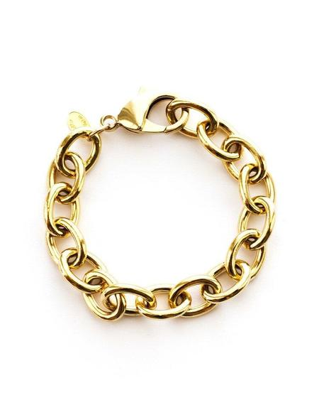 Jennifer Tuton Chunky Open Link Bracelet - Gold