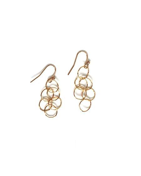 Jennifer Tuton Loopy Earrings - 14K Goldfill