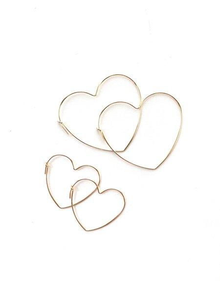 Jennifer Tuton Heart Hoops - Goldfill