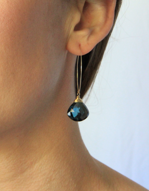 Jennifer Tuton Labradorite Celestial Earrings - 14K Gold Fill