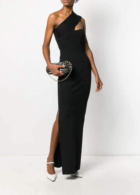 Solace London Lavena Mid Maxi Dress - Black