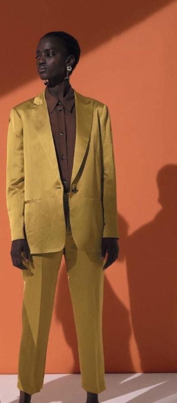 Tela Remo Cropped Pants - Mustard