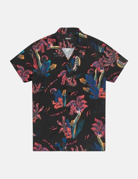 Deus Ex Machina Dean Pink Positive Shirt - Black