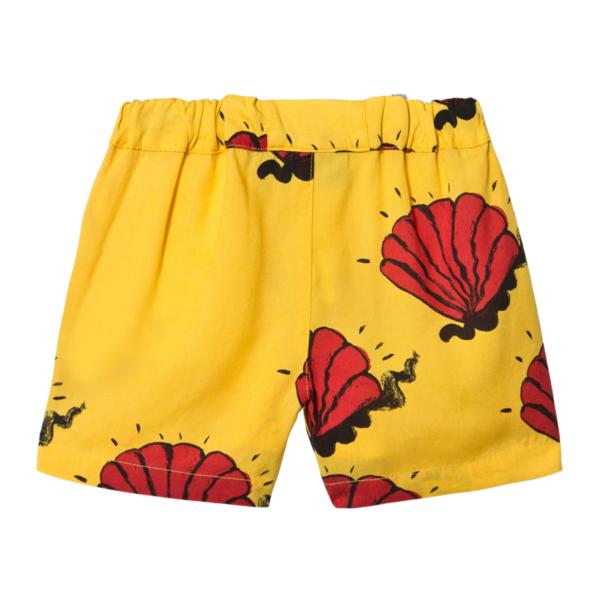 Kids Mini Rodini Shell Woven Shorts - Yellow