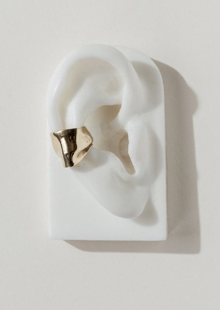 FARIS Pleat Ear Cuff - Bronze