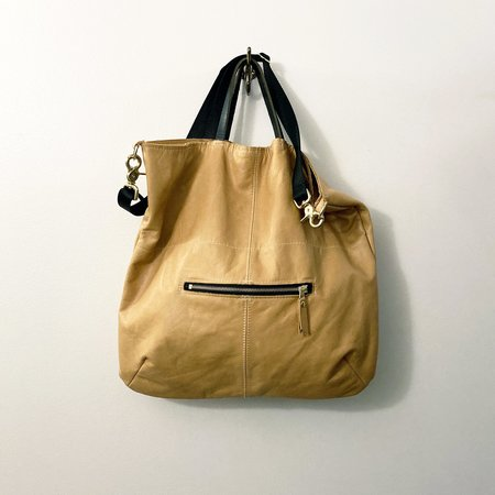 Stitch and Swash Bucket Tote - Camel