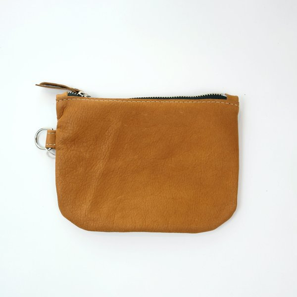Stitch and Swash Large Zip Round Bottom Pouch - Toffee
