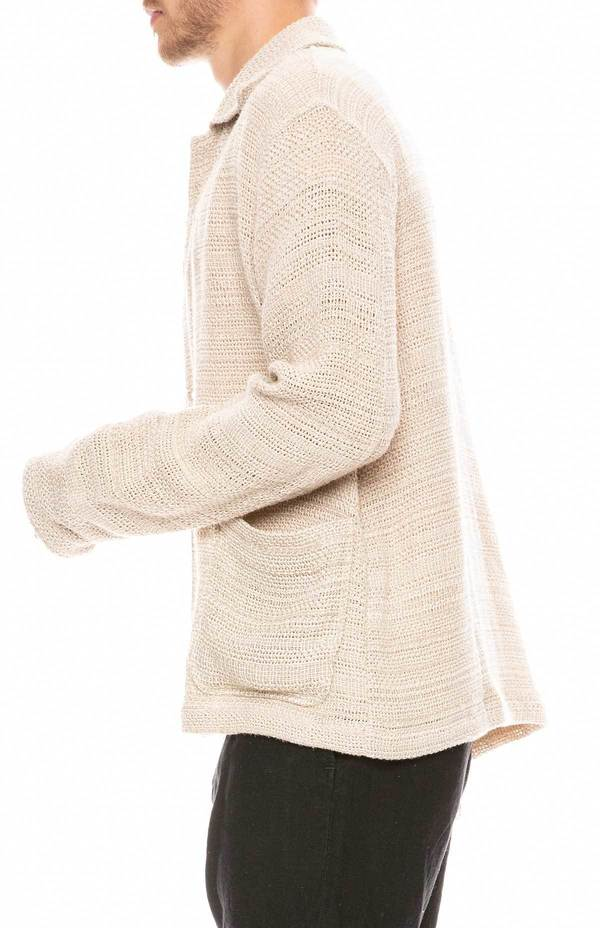 Our Legacy Coach Shirt - Beige Sack Weave