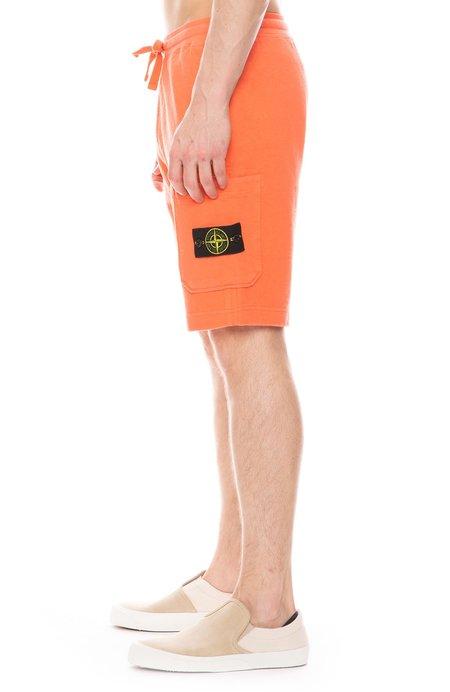 Stone Island Garment Overdye Shorts - Orange Red