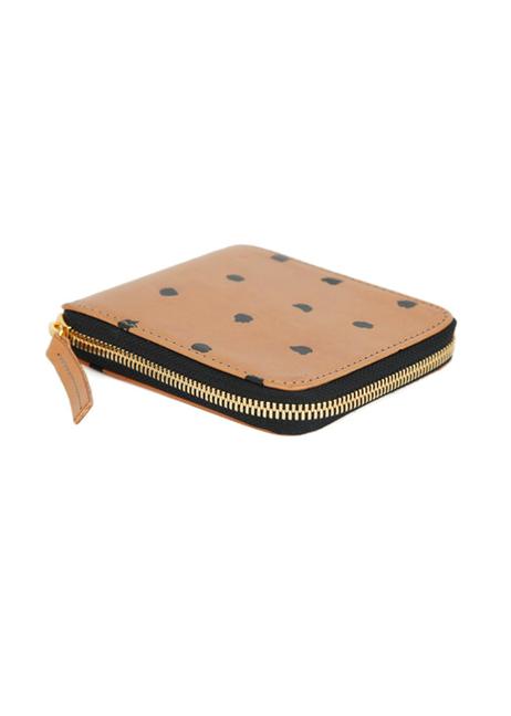 Clare Vivier - Half Zip Wallet (Tan with black spots)