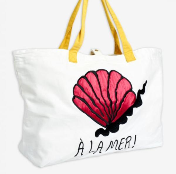 Kids Mini Rodini A La Mer Beach Bag - Off White