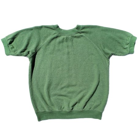 Jungmaven Short Sleeve Fleece Raglan Sweatshirt - Spruce Green