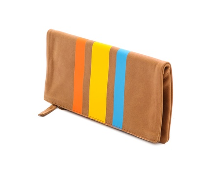 Clare Vivier - Striped Foldover Clutch
