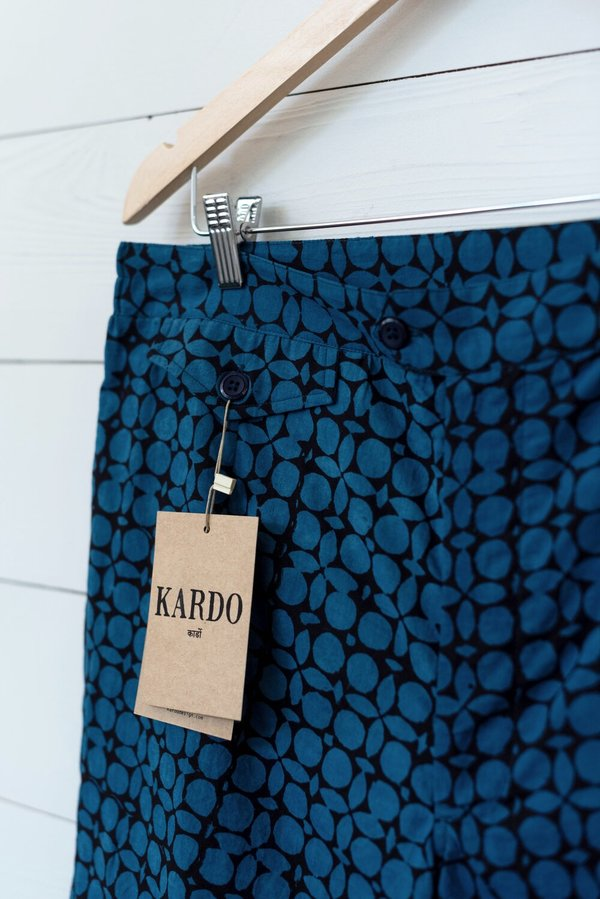 Kardo Palermo Swim Trunk - Blue/Black