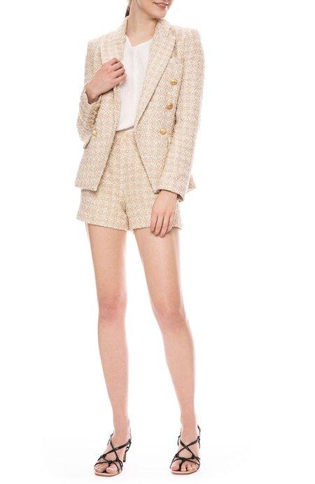L'agence Kenzie Tweed Blazer - ROSE GOLD
