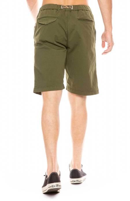 WHITE SANDS Short with Contrast Belt - Olive Green