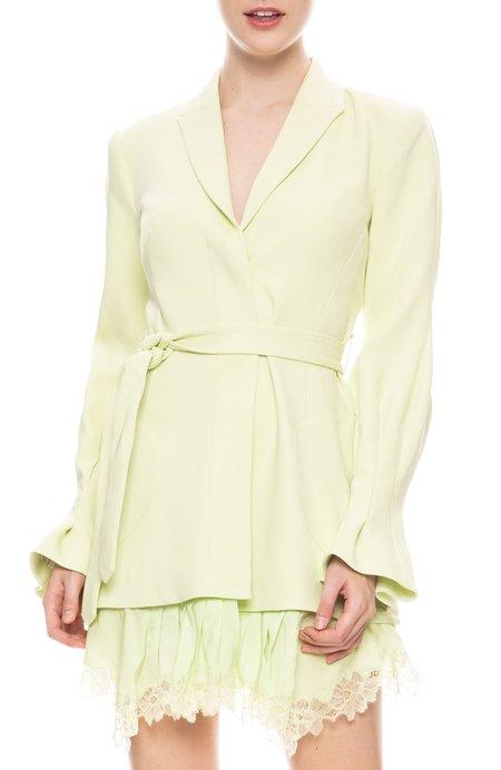 Jonathan Simkhai Victoira Crepe Dress Jacket - PEAR