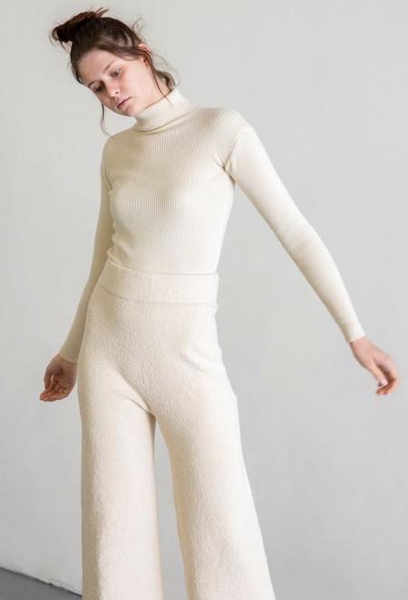 LAUREN MANOOGIAN NEW MITER PANTS - RAW WHITE