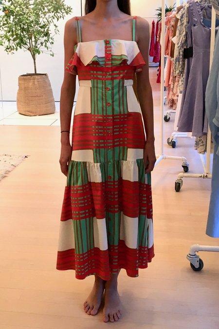 Borgo de Nor Florence Midi Dress - Red Check