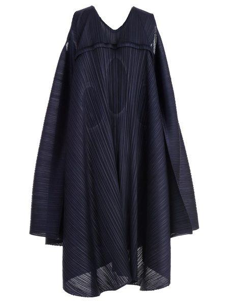Issey Miyake Petal Midi Dress - Navy