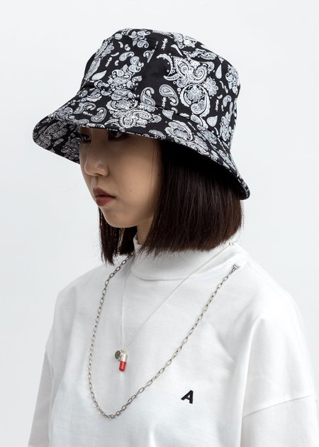 Salute Bandana Bucket Hat - Black