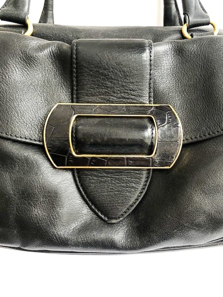 Pre-loved Max Mara Leather Shoulder Bag (FW) - Black