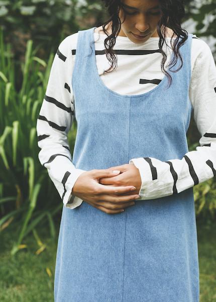 Ursa Minor - Chao Dress in Blue Wash Denim