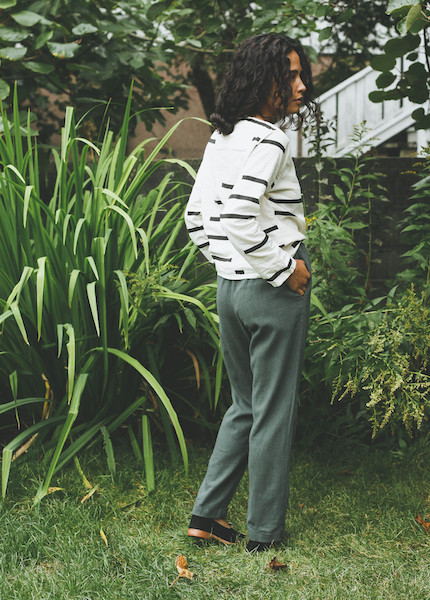 Me & Arrow - Cuff Pant in Ivy