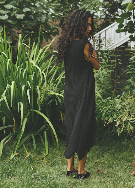 Objects Without Meaning - Knife Pleat Dress in Black
