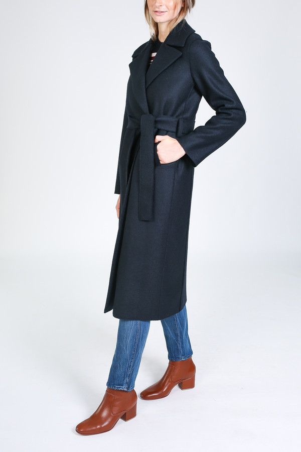a10f01ff7c8e0 Harris Wharf London Boxy Duster Coat in dark blue. sold out