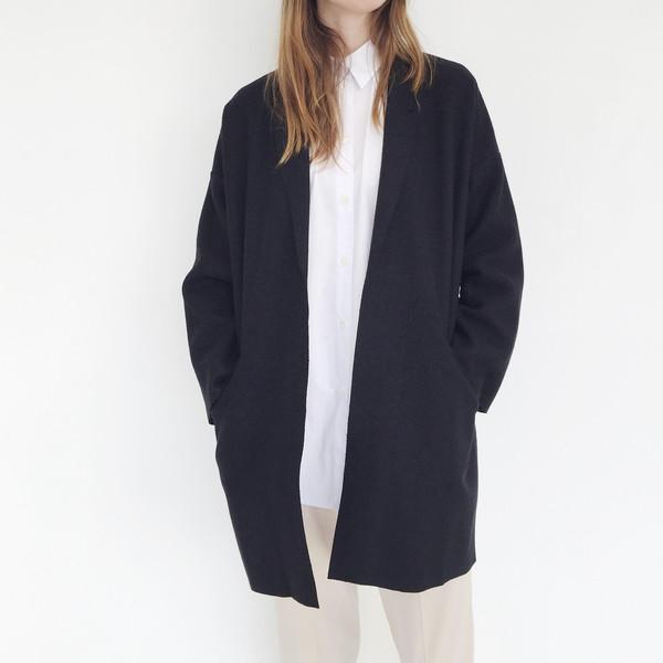 ARE Studio - Black Angle Coat on Garmentory