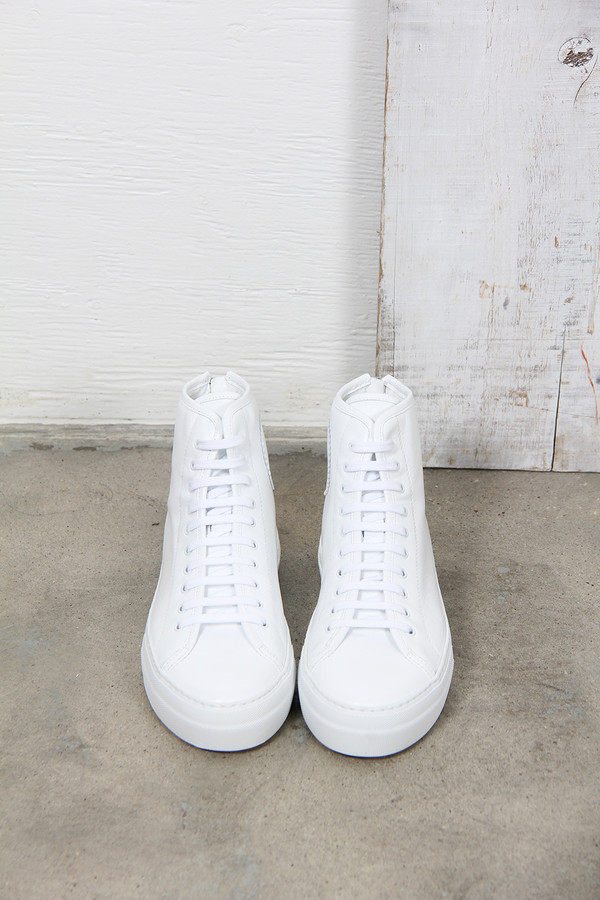 common projects tournament high Common projects men's tournament suede high-top sneaker - sale $209 common projects tournament high-top sneaker in calfskin suede round toe lace-up front back.