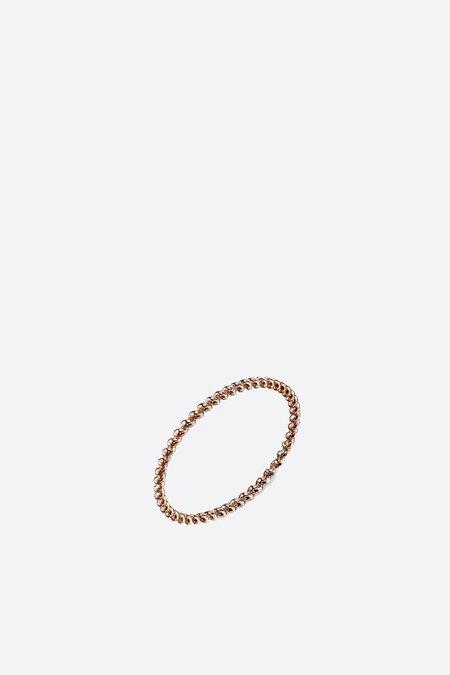 Gabriela Artigas Rope Ring - Rose Gold