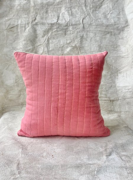 Cuttalossa & Co. Cotton Quilted Pillow - Strawberry/Mint