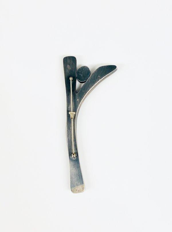 Terri Logan Y Pin - Sterling Silver