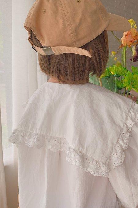 Kids Korean Collective Sailor Ruffle Dress - White