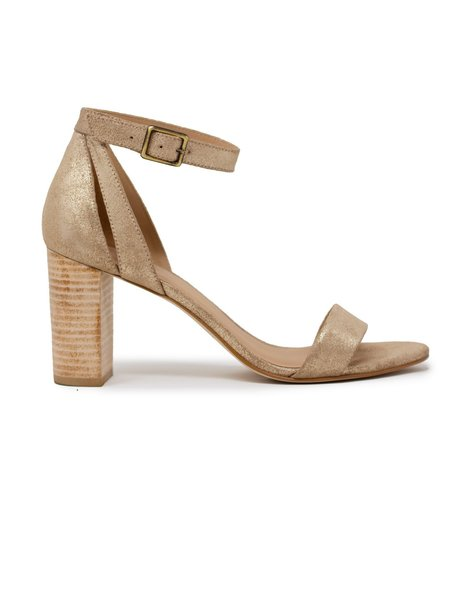 Able Elizabeth Metallic Heels - Gold